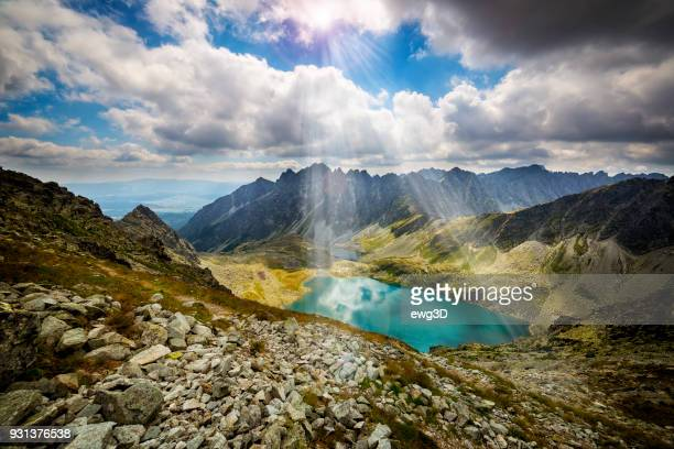 Great Hinczowy Pond in High Tatra Mountains, Slovakia
