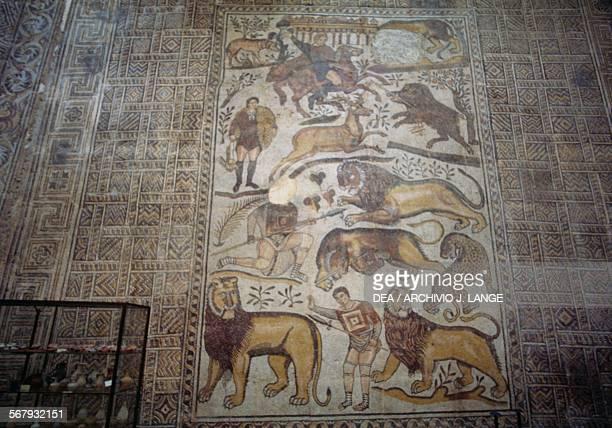 Great hunt mosaic from the ancient Roman city of Djemila Algeria Djemila Musée De Djemila