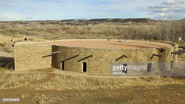 Great Kiva West Ruin Anasazi Hisatsinom Chacoan Complex Aztec Ruins National Monument Aztec New Mexico