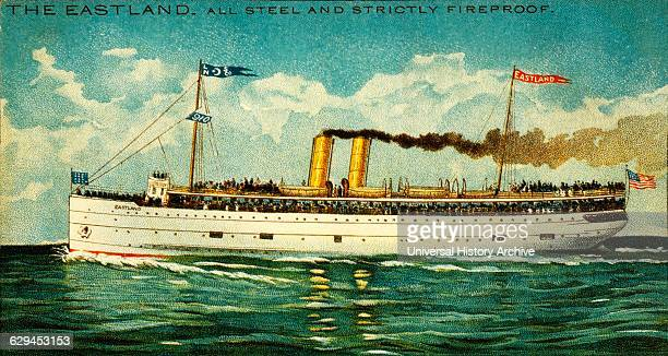 Great Lakes Steamer S.S. Eastland, circa 1908.