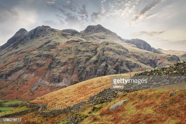 great langdale lake district national park sunset cumbria united kingdom - heaven stock pictures, royalty-free photos & images