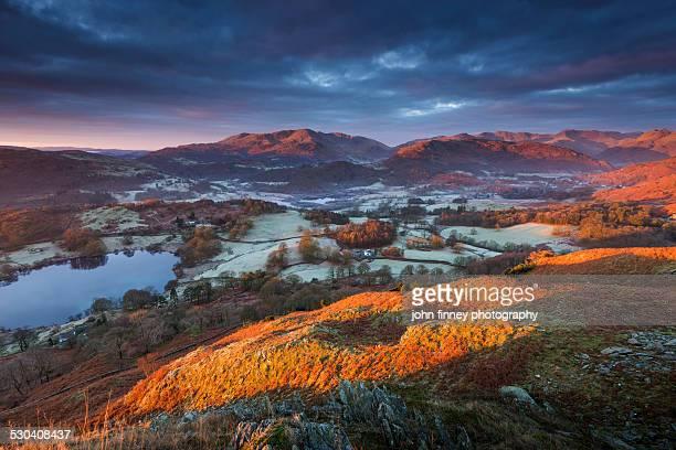Great Langdales sunrise, Lake District, England