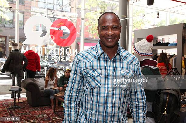 NFL great Lynn Swann visits the True Religion brand shop at the GQ Nordstrom Launch PopUp Store at Nordstrom's Treasure Bond Store on September 9...