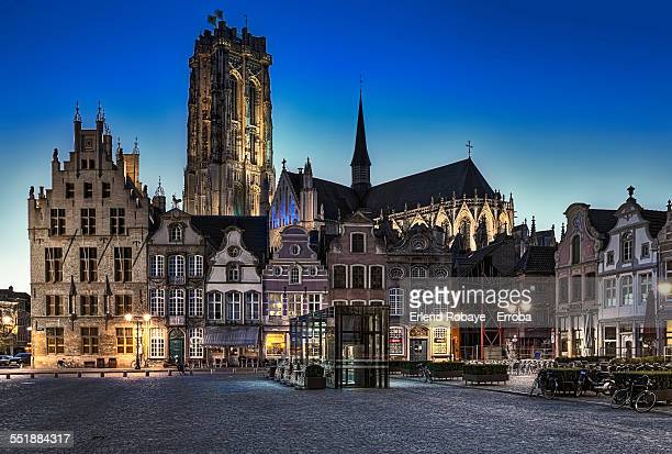 great market place mechelen, belgium - mechelen stock pictures, royalty-free photos & images