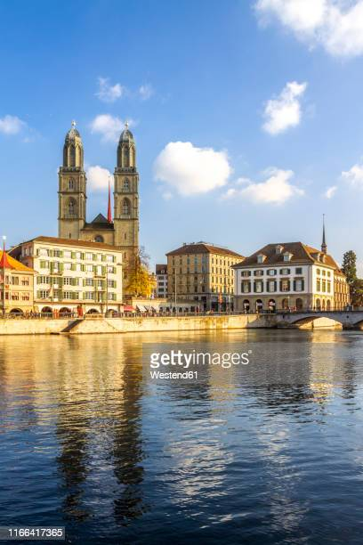 great minster, zurich, switzerland - minster stock photos and pictures
