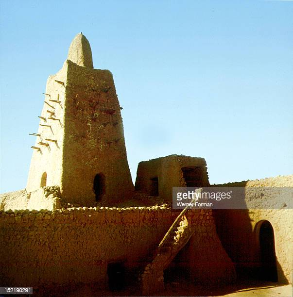 Great Mosque Timbuctu the oldest mosque south of the Sahara The mosque is constructed of round dried mudbricks and stone rubble with clay rendering...