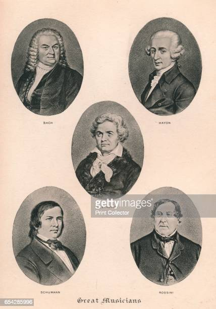 Great Musicians Plate III 1895 Johann Sebastian Bach Joseph Haydn Ludwig van Beethoven Robert Schumann and Gioachino Antonio Rossini From The Musical...
