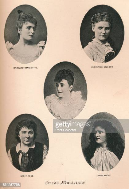Great Musicians Plate XII c1890 Great Musicians Margaret Macintyre Christina Nilsson Countess de Casa Miranda Adelina Patti Marie Rose and Fanny...