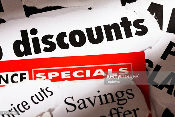 Great news: Press headlines announce discounts!