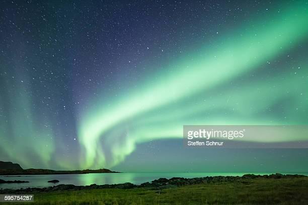 Great northern lights aurora borealis Norway
