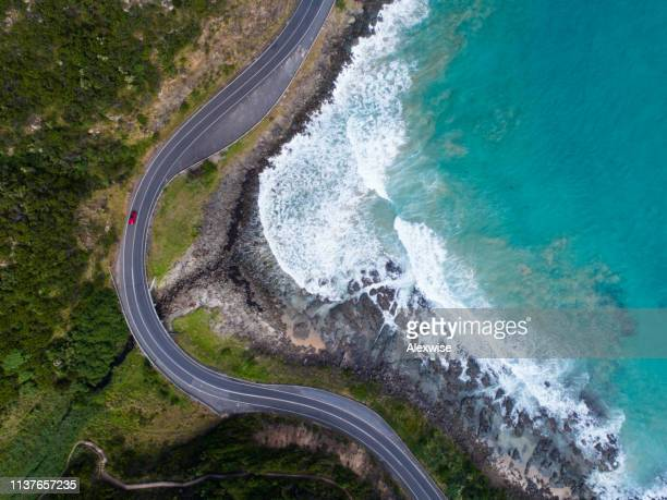 great ocean road aerial - coastline stock pictures, royalty-free photos & images