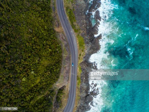 great ocean road aerial - seascape stock pictures, royalty-free photos & images