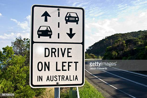 Signage reminding drivers of the correct driving laws in Australia.