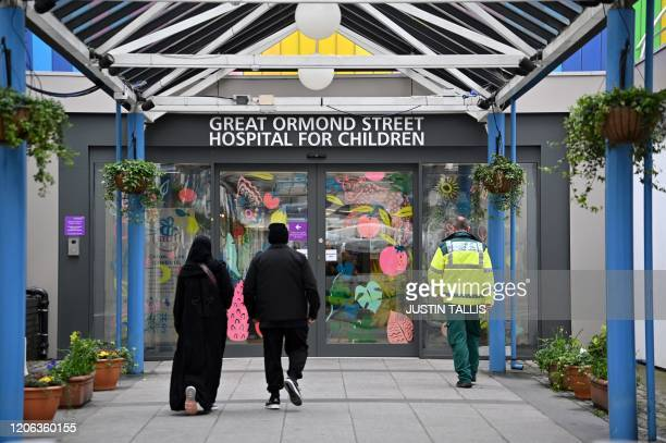 Great Ormond Street children's hospital is pictured in London on March 10 2020 Great Ormond Street announced on Tuesday that it had cancelled surgery...