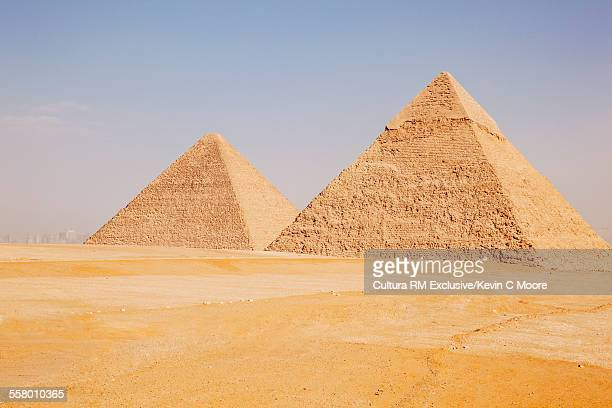 Great pyramid and pyramid of Khafre, Giza, Egypt