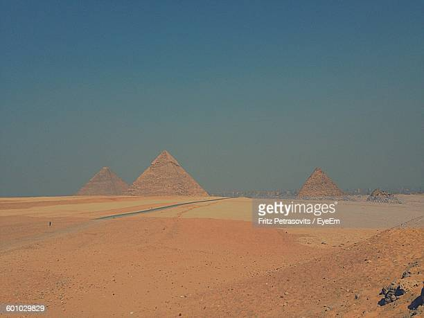 Great Pyramid Of Giza Against Clear Sky