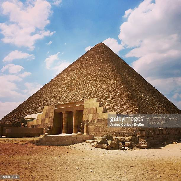 Great Pyramid Of Giza Against Sky