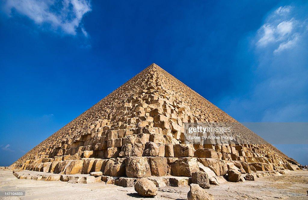 Great pyramid of khufu : Stock Photo