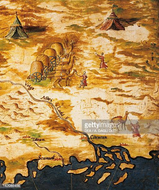 Great Russia Delta of the Volga River and the Silk Road by Stefano Bonsignori 15751584 Detail