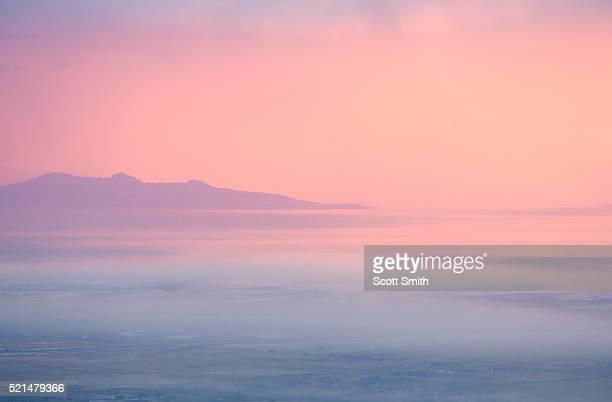 Great Salt Lake and Antelope Island. Utah. USA.