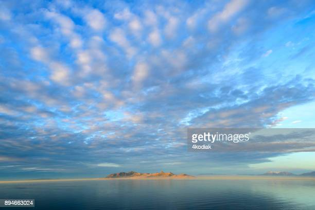 great salt lake in utah - salt lake city utah stock photos and pictures
