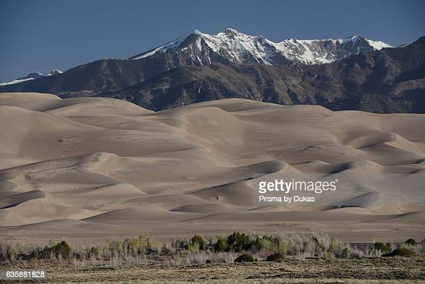 Great Sand Dunes National Park and Rocky Mountains in Colorado