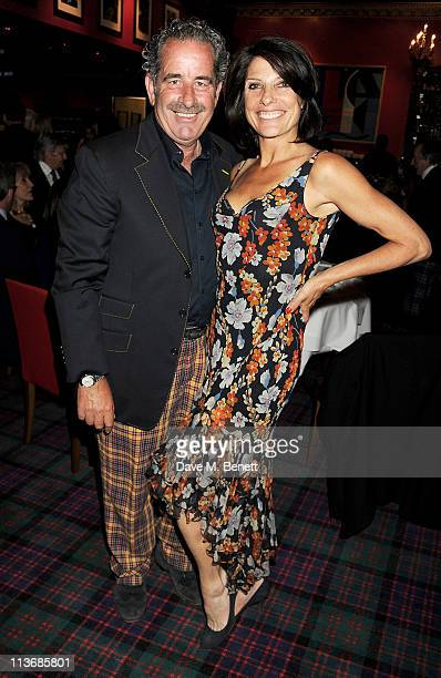 Great Scot Award winner Sam Torrance and wife Suzanne Danielle attend the Johnny Walker Blue Label Great Scot Awards 2011 at Boisdale of Canary Wharf...