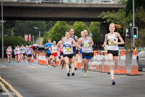 great scottish run - theasis stockfoto's en -beelden