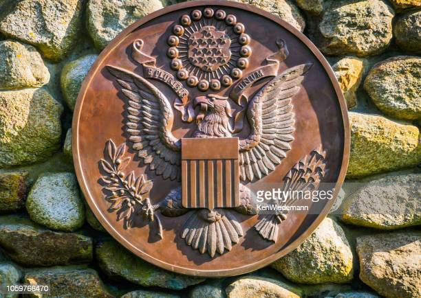 great seal of the united states - insignia stock pictures, royalty-free photos & images