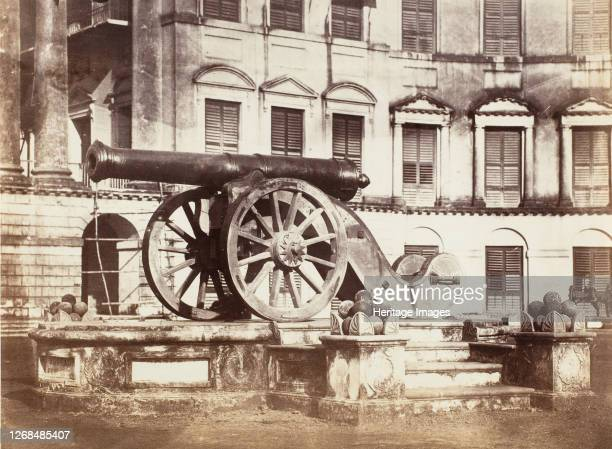 [Great Sikh Gun taken at Ferozshah on the Night of December 21 Government House Calcutta] 185861 Artist John Constantine Stanley