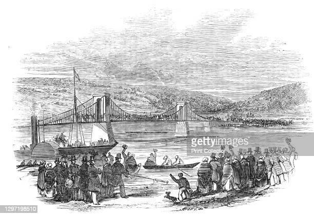 Great Skiff Race, at Newcastle-upon-Tyne, 1844. Rowing race on the River Tyne: '...a grand skiff match for £180, was rowed between Coombes, the...