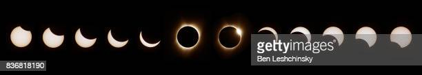 great solar eclipse viewed from corvallis, oregon - eclipse stock pictures, royalty-free photos & images