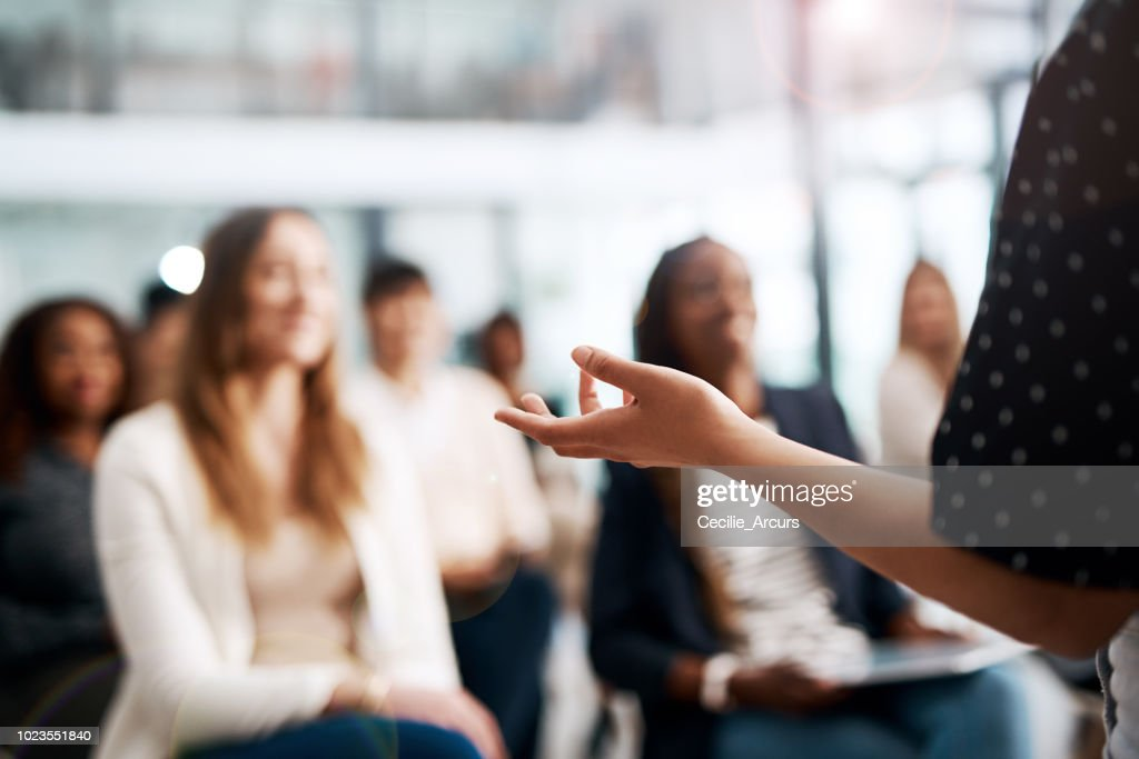 Great speakers know their audience : Stock Photo