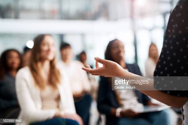 great speakers know their audience - attending photos stock photos and pictures