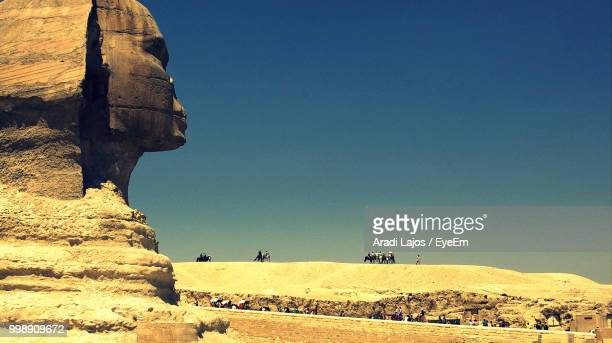 Great Sphinx Of Giza Against Clear Blue Sky