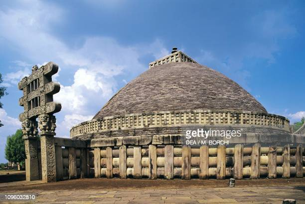 Great stupa Sanchi Madhya Pradesh India 3rd1st century BC