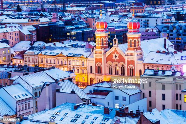 great synagogue in pilsen - plzeň stock pictures, royalty-free photos & images