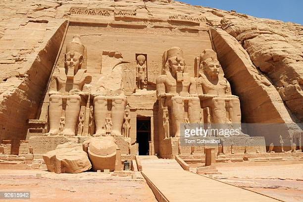 great temple at abu simbel - rameses ii stock photos and pictures