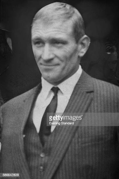 Great Train Robber Douglas Gordon Goody during the trial of eleven men accused of the robbery at Aylesbury Assizes Buckinghamshire 26th March 1964...