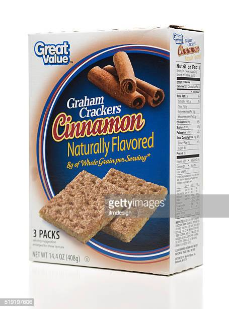 Great Value Graham Crackers Cinnamon flavored box side