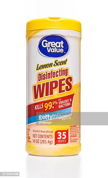 Great Value lemon scent disinfecting wipes canister