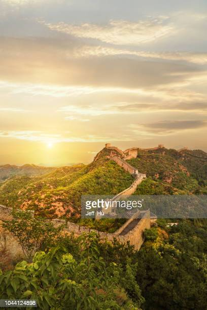 great wall in china - great wall of china stock pictures, royalty-free photos & images