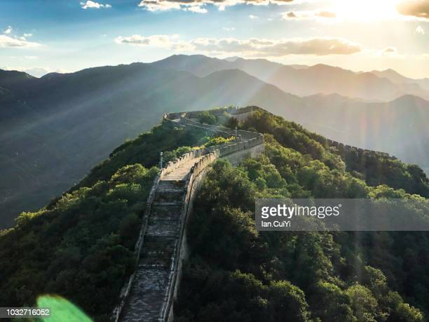 great wall of china, china - great wall of china stock pictures, royalty-free photos & images