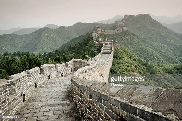 great wall of china, china - famous place stock pictures, royalty-free photos & images