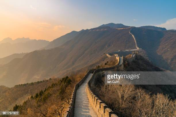 great wall of china, china - china stock-fotos und bilder