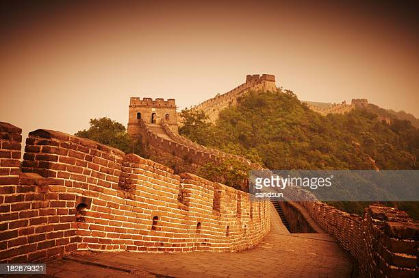 Great Wall of China during sunrise