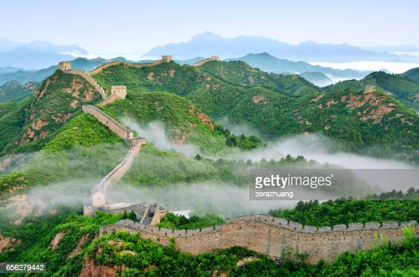 Great Wall Of China in Stratosphäre Nebel, China