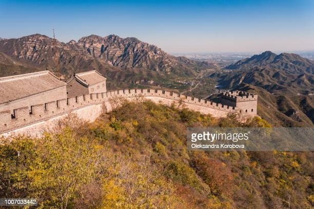 great wall of china is one of the main travel destinations in beijing. - herpes zoster foto e immagini stock