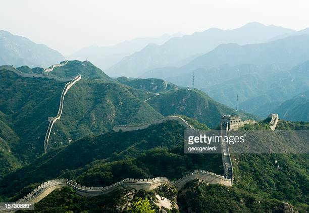 great wall of china - ancient civilization stock photos and pictures