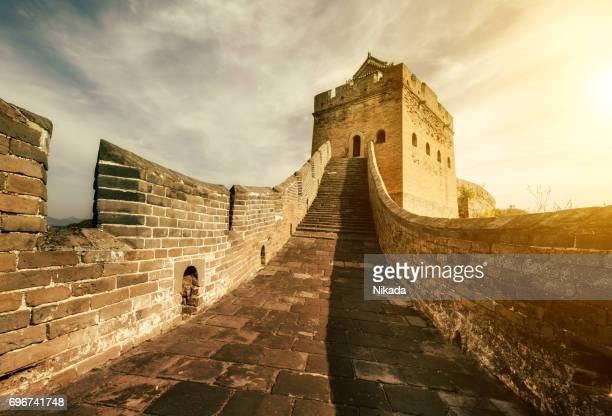 great wall of china - castle stock photos and pictures